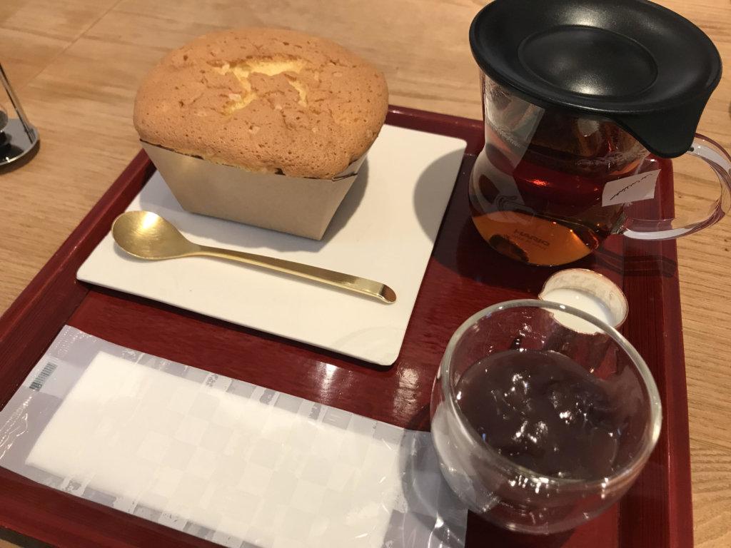 八幡カステラと紅茶セット